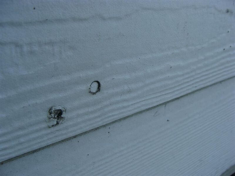 Problems with james hardie siding installations overdriven nails hardiboard angled nail altavistaventures Choice Image