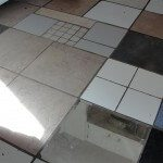Mirror Tile on kitchen floor