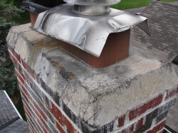 Disintegrating chimney crown 1