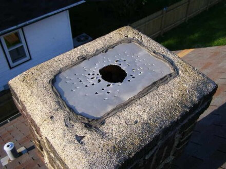Holes in chimney cap