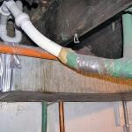 Improper drain repairs