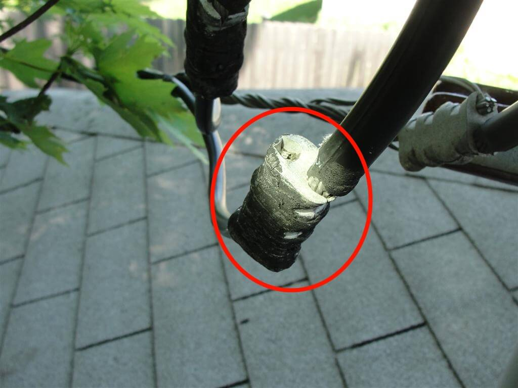 Tree Branches Exposed Power Lines Who Fixes What Running Electric To A Garage Or Garden Pond Learn About Code