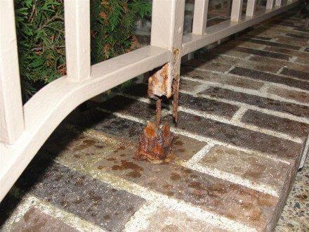 Rusted out guardrails