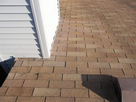 Caulked shingles