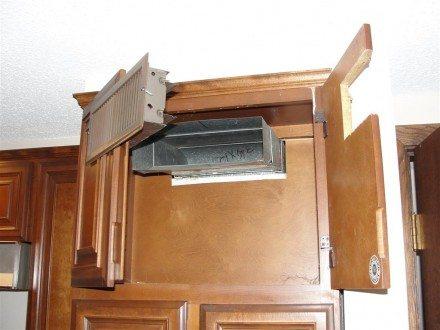 Register inside cabinet