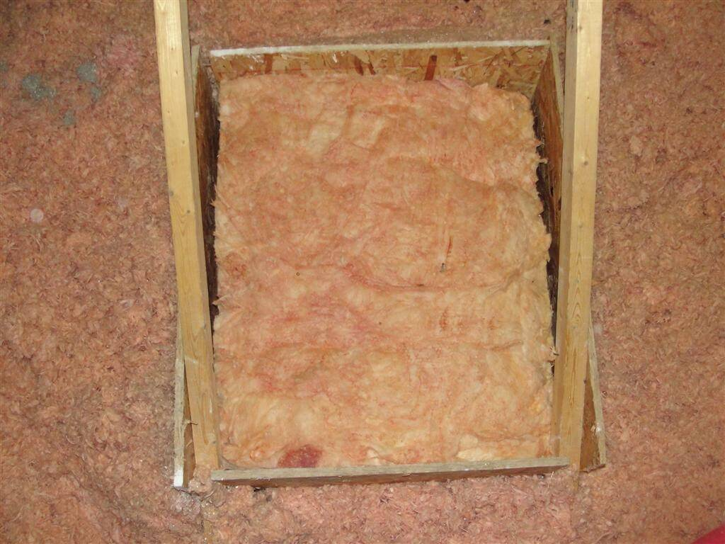 Poorly Insulated Attic Access Panels