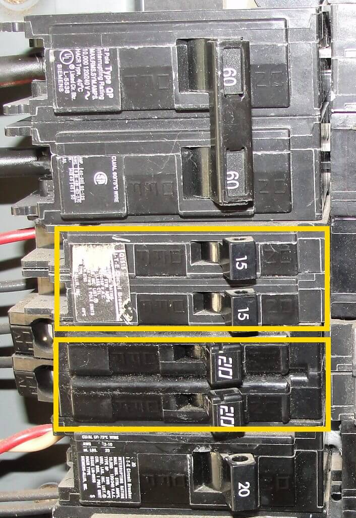 How to know when tandem circuit breakers can be used (aka - cheater  Pat Heated Seat Wiring Diagram on