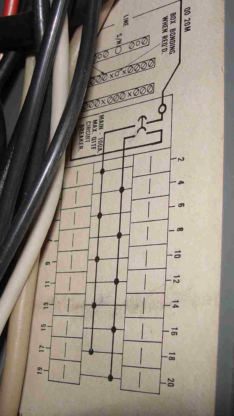 How to know when tandem circuit breakers can be used (aka - cheater  Phasr Service Panel Wiring Diagram on