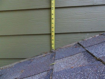 Exterior - siding too close to shingles