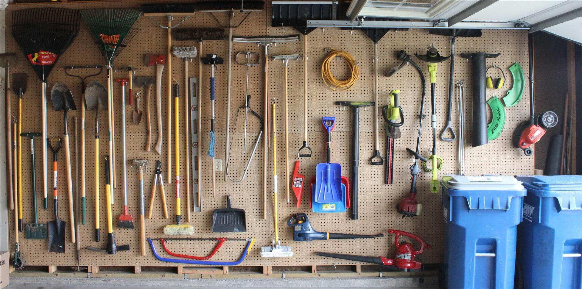 garage organization it 39 s tough to beat pegboard. Black Bedroom Furniture Sets. Home Design Ideas