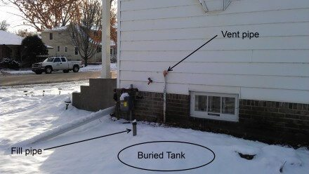 Buried Oil Tanks