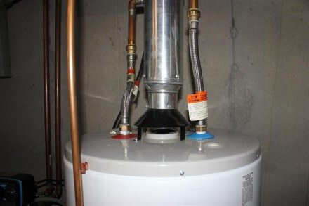 Flexible water heater connectors