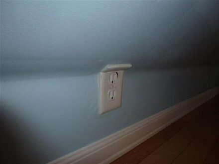 Bent outlet cover