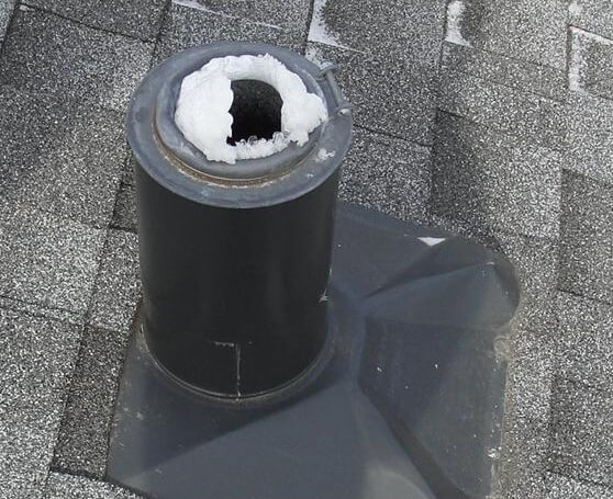 Plumbing Vents Covered With Frost