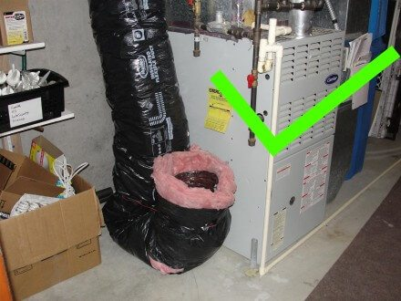 Combustion air duct J