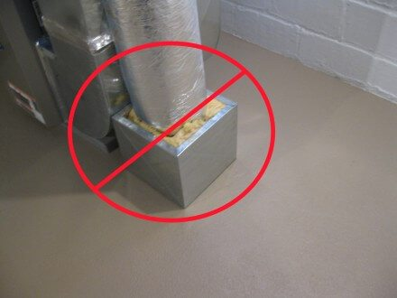 Restrictive combustion air duct box