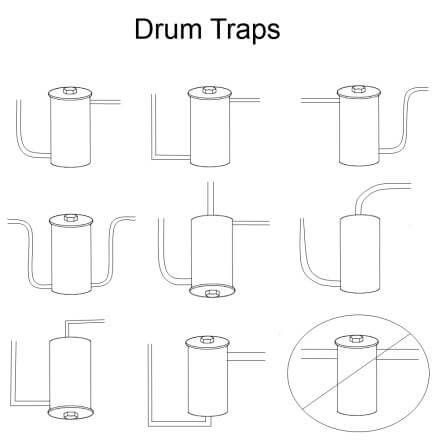 Drum trap diagrams