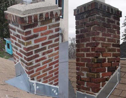 Incomplete Chimney Repair