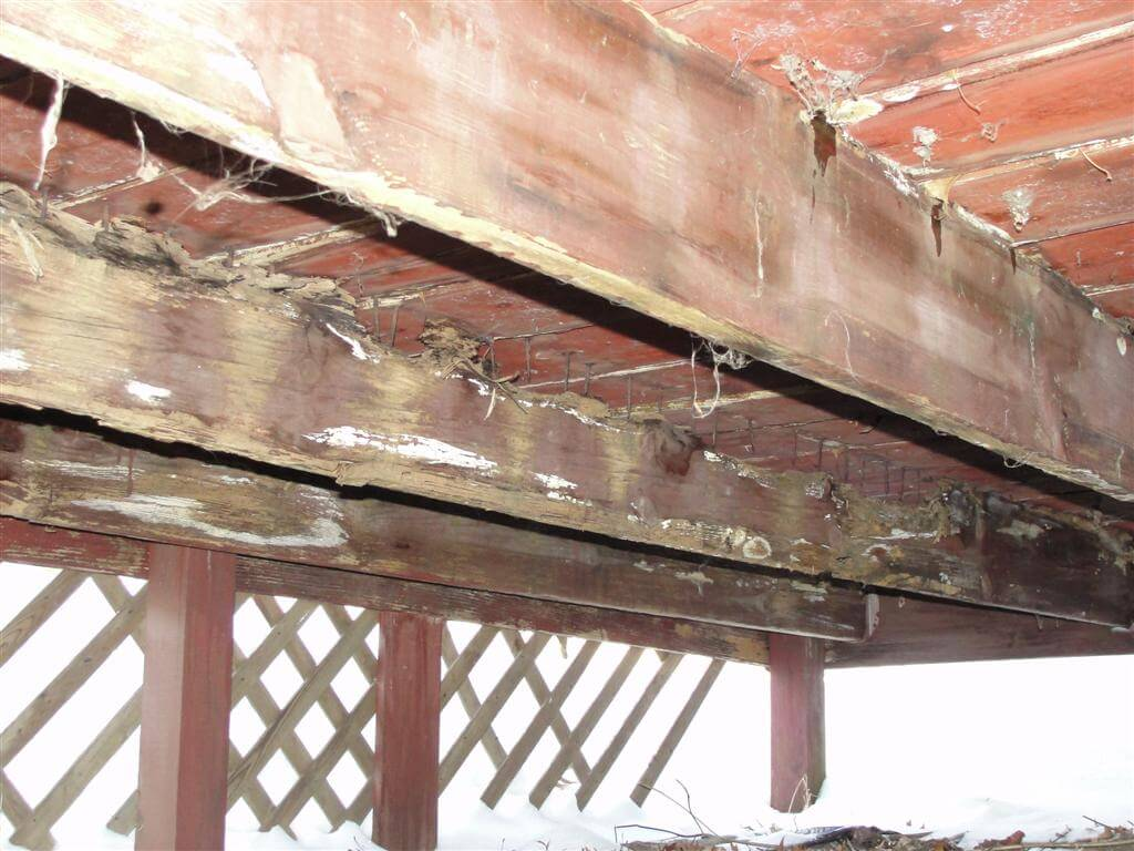 Home inspection checklist exterior for Balcony joists