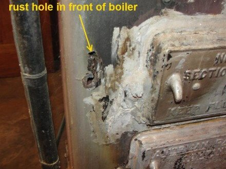 Rusted boiler