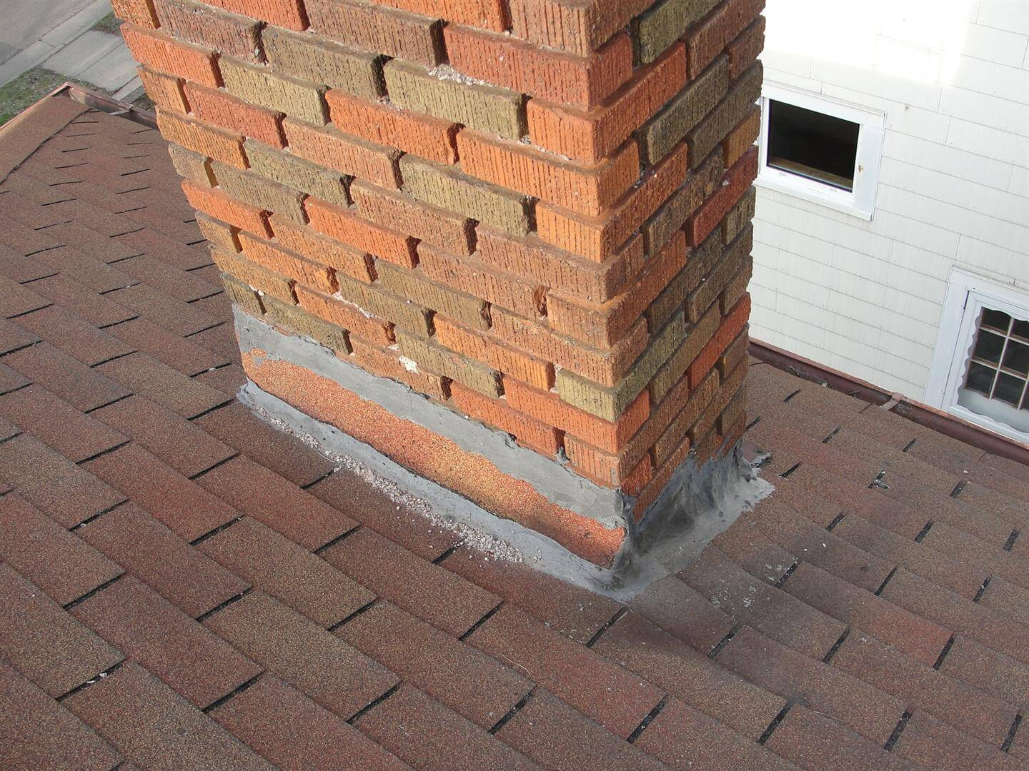 Improperly Flashed Chimney