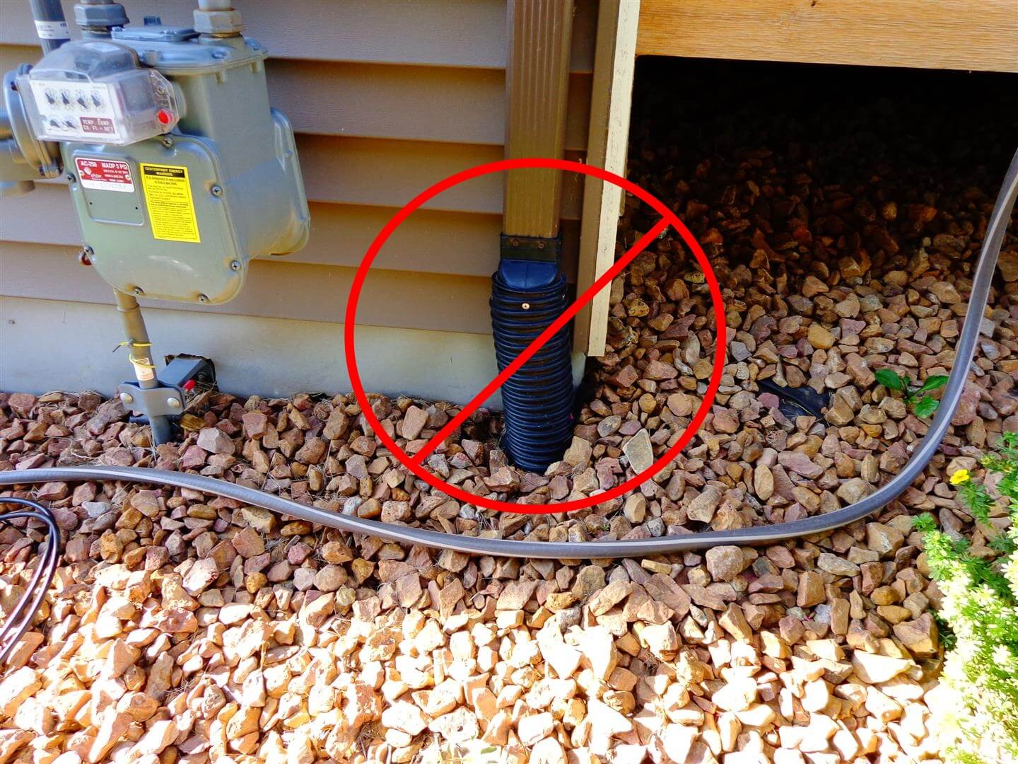 How to install a downspout in a gutter - While A Blocked Sump Pump Discharge Can Lead To A Wet Basement So Can Blocked Downspouts The Home Pictured Below Had A Downspout Discharging Directly Into