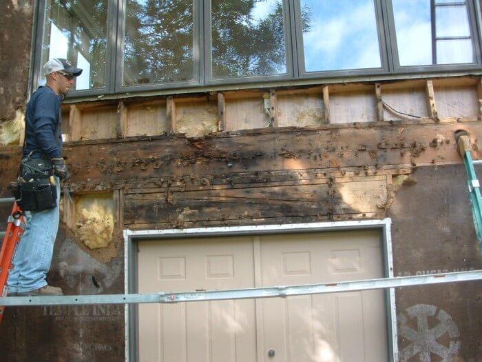 stucco water damage
