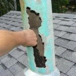 Transite Asbestos Flue, Minnetonka home built in 1954