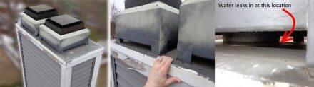 Flat metal chimney cap