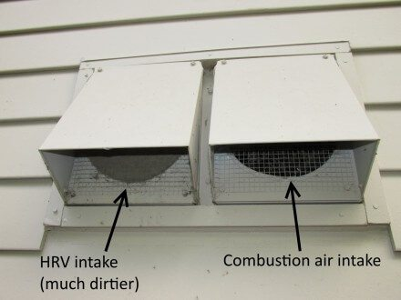 HRV Intake and Combustion Air Intake