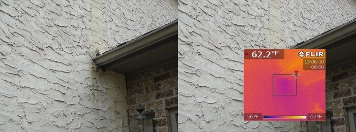 Moisture Testing Stucco - Structure Tech Home Inspections