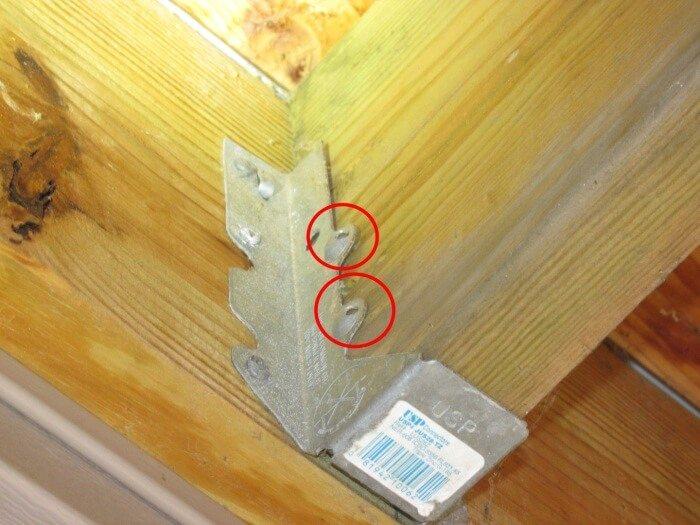 Exterior - Missing Joist Hanger Nails