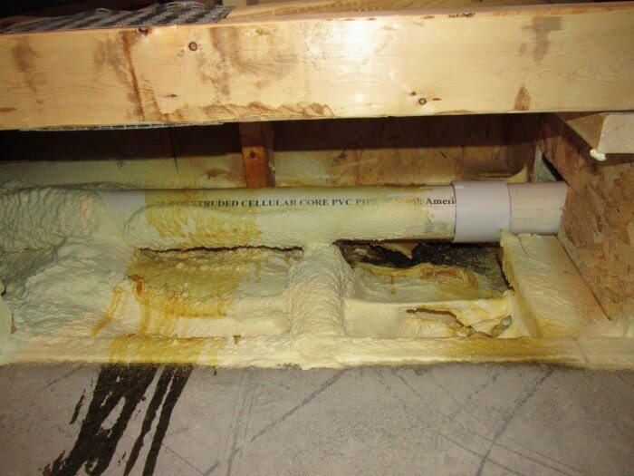 Interior - spray foam insulation problems