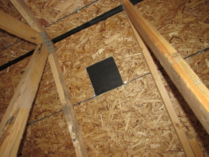 Roof - Missing Vent (attic view)