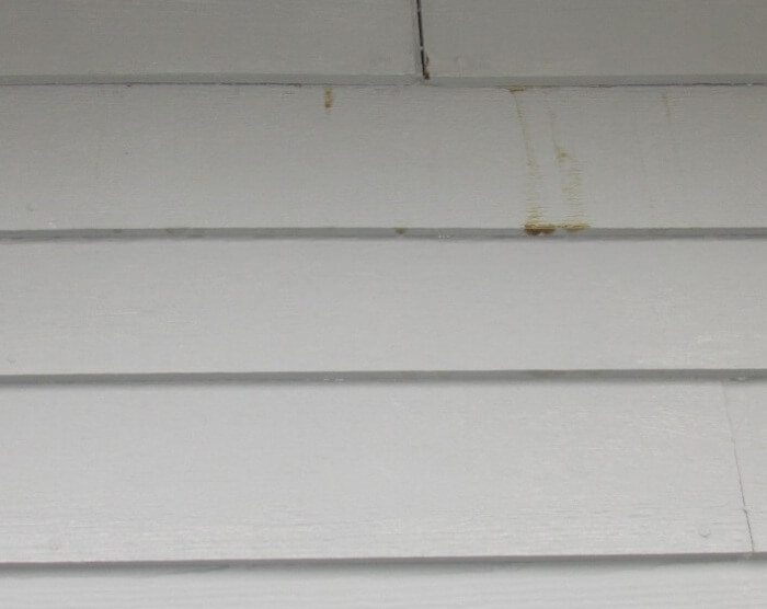 Stains on siding