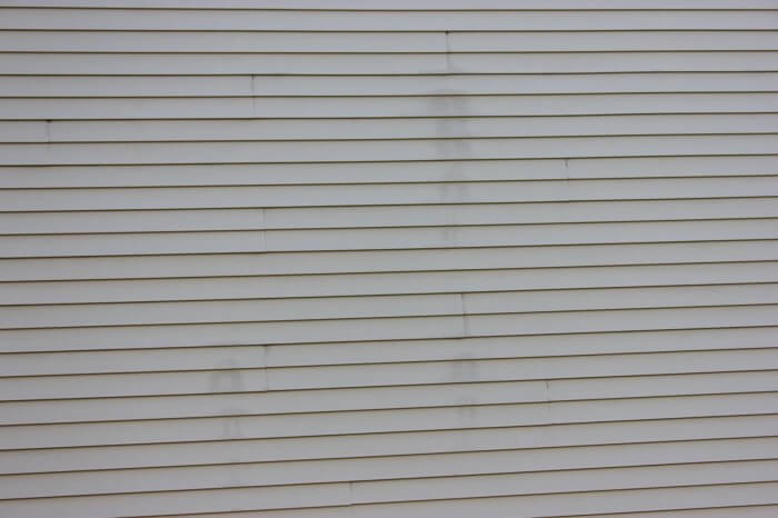 Stains on vinyl siding