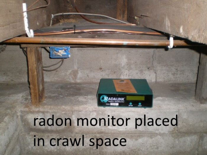 Radalink in crawl space