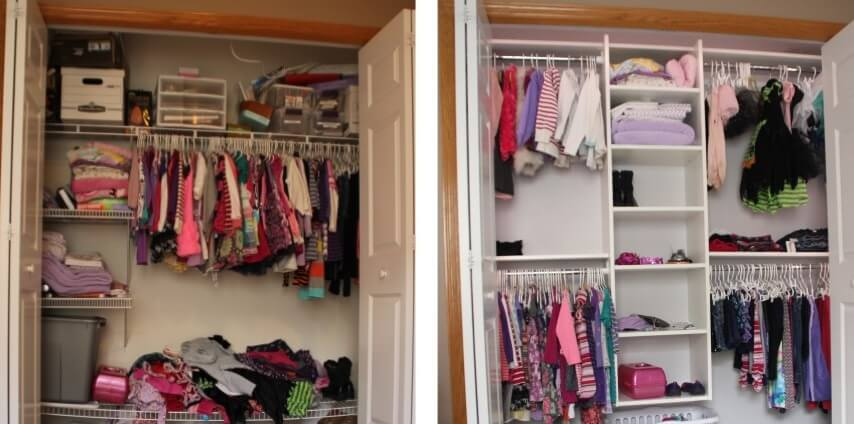Closet Before and After1 how to makeover your closet startribune com Box Shelf in Closet at honlapkeszites.co