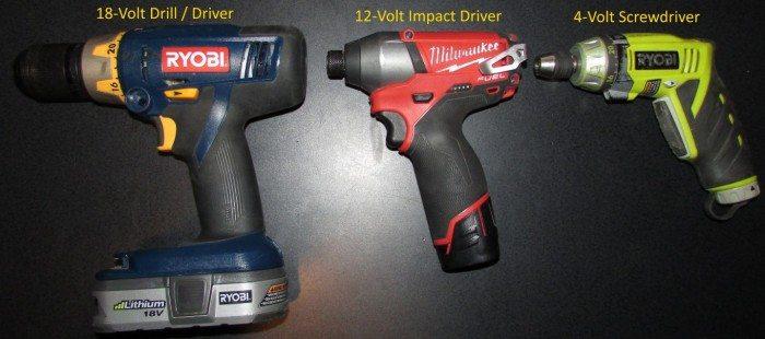 Drill vs driver vs screwdriver