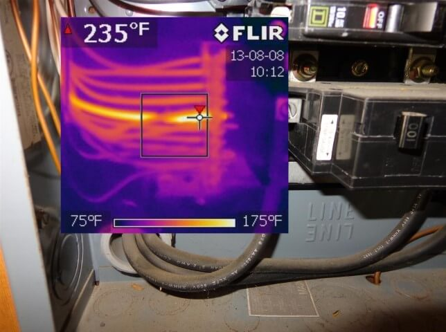 How to use an infrared camera to find overloaded circuits