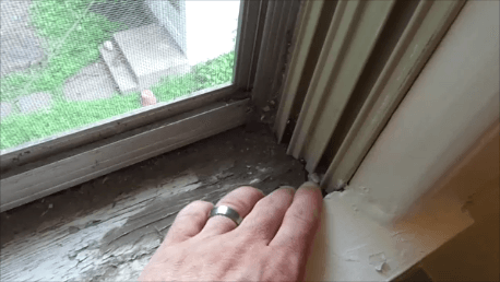 20 - rotted window frame
