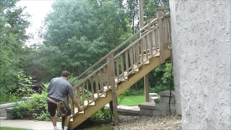 Loose stairway