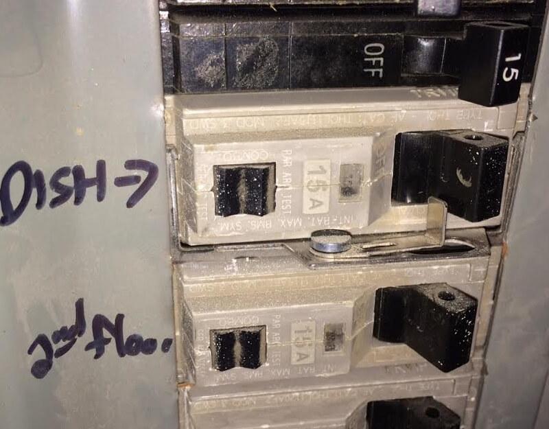 Lock at circuit breaker cover