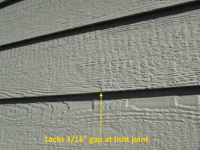 Improper gap at butt joint