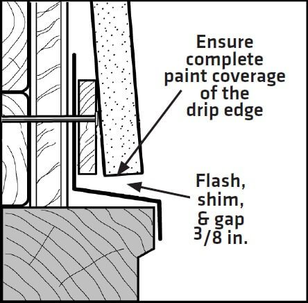 LP Smartside Diagram Clearance above window