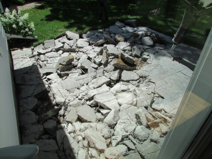 Exterior - patio demoed