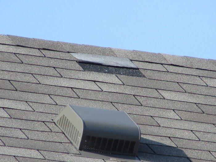 Roofing - broken tab
