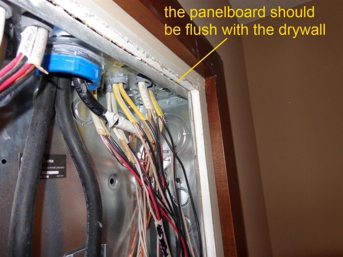 Electrical - panelboard recessed