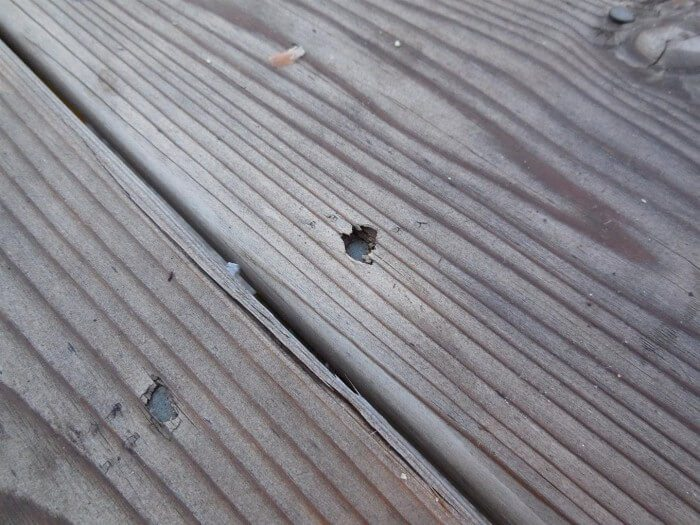 Exterior - overdriven nails at deck