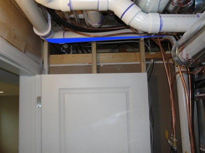 HVAC - backpitched furnace vent